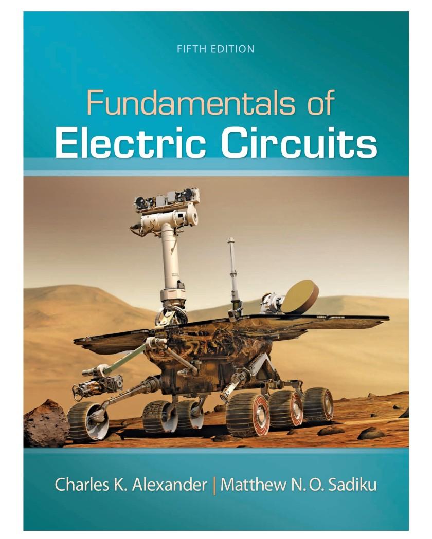 Fundamentals Of Electric Circuits Alexander Sadiku 5th Edition